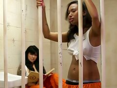 Hot ebony prisoner Imani Rose enjoys eating wet cunt of horny lesbo in cell