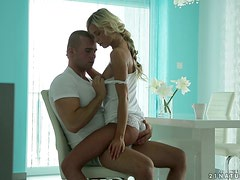 Scandinavian Blonde Bitch Gets Excited To Be Fucked On Her Furniture!