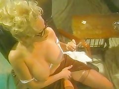 Smoking milf Rebecca Bardoux plays her busty tits and pussy