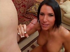 Smoking hot Kendra Secrets is rewarded with a filty facial