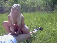 Outdoor legal age teenager couple having porn