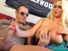 Cop tit fucks glorious milf chick Karen Fisher