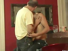 Tipsy twink is fucked by a mature man