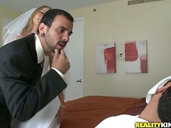 Alanah Rae the hot chick in a wedding dress gets fucked