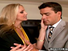 Julia Ann the slutty blonde MILF gets nailed in a bedroom