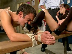 Dana DeArmond Strapon Fucks Footbal Player and Gets Laid with Another Guy