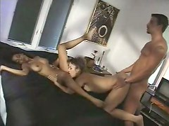 Tempting girls are screwed bad in a hardcore threesome