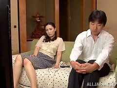 Japanese Wife Nami Horikawa Having Sex with Her Husband