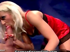 Blonde GGG whore sucking dick and eating