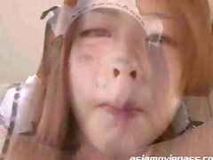 Beautiful Japanese Babe Blowjob Cum Eating