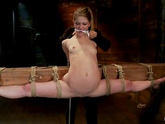 Sensi Pearl with Legs Tied 180 Degrees for Easy Access Toying