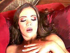 Watch the solo masturbation scene from exciting hottie Alyssa Reece. The babe is going to