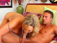 Blondie with massive silicone juggs Abbey Brooks has great fucking with hugecocked stud Rocco