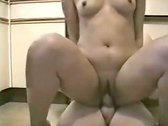 Sexy and chunky Indian girl riding her man on the floor