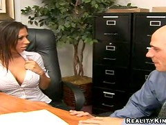 Rachel Starr gets her vag unforgettably fucked in an office