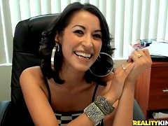 Sizzling Jessi Foster gets fucked hard in the office