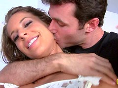 Presley Hart gives skillful blowjob and gets pounded