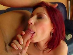 Voluptuous dildo addicted redhead Kira gonna ride and suck a dick tonight