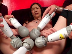 Asian babe with dark-hairs is getting some toys