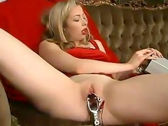 Adrianna Nicole gets her snatch pounded with a realistic dildo