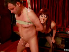 Dominatrix Gets Two Guys For Her Sexual Pleasure. Two Bastards Get Lucky!