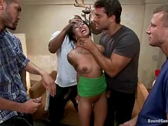 Slim Asian girl gets double penetrated and facialed
