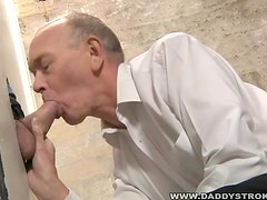 Daddy and the strangers cock at the gloryhole