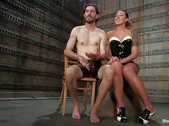 Dominant Whores Blowjob and Ride His Cock after Abusing His Ass in BDSM