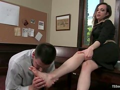 Office sex with a smoking hot shemale slut La Cherry Spice