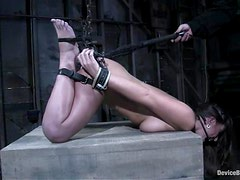 Horny Natalia Love gets toyed after being gagged and tied up