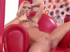 Michelle is a good looking naked european blonde that poses