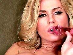 Young pretty blonde beauty Randy Moore with tight ass and natural boobies teases in close up