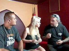 Fat dude Diangelo from Argentina gets a solid blowjob provided by blond whore