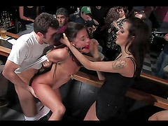Chick gets tied up gagged and fucked!