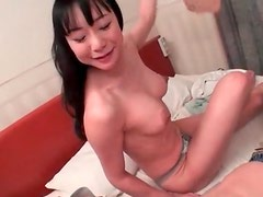 Spit soaked Japanese blowjob with ball sucking