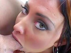 Tanned brunette has 69 sex and gets rammed