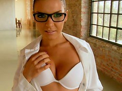 Busty milfs have hardcore sex in POV video