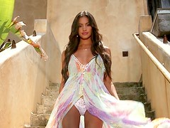 Bryiana Noelle shows her perfect body during a photo set for Playboy