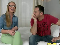 Marry Dream deepthroats a cock before taking it in her vag and ass