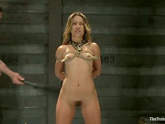 Kristina Rose gets hung up and amazingly fucked in BDSM scene