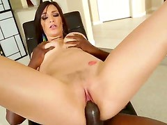 Holly Michaels grinds hard on Lexington Steeles cock