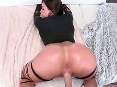 Voracious for gooey cum black head with flossy ass gets fucked doggy rough