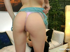 Cute Blondie Drains Her Boyfriends Balls