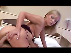 Horny blonde babe fingers herself before being nailed