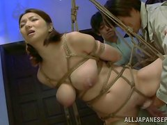 Japanese style BDSM with a sex slave Mio Takahashi