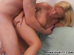 Hot blonde amateur girlfriend with big tits action