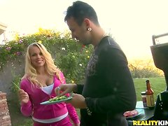 Gorgeous Britney Young gets fucked after a barbecue party