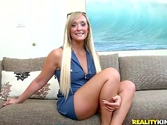 Playful blond siren Karmin is so perfect and so horny