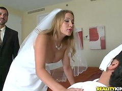 Wedding day double penetration for Alanak Rae