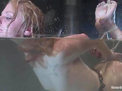 Honey gets hogties and thrown in the immersion tank
